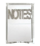Notes in holder
