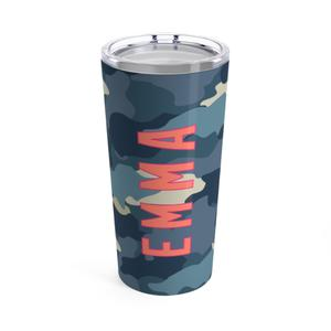 Blue Camo Travel Tumbler
