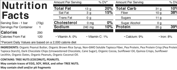 Cherry Almond Fudge Nutrition Facts