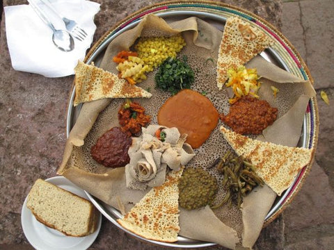 injera bread made from teff flour