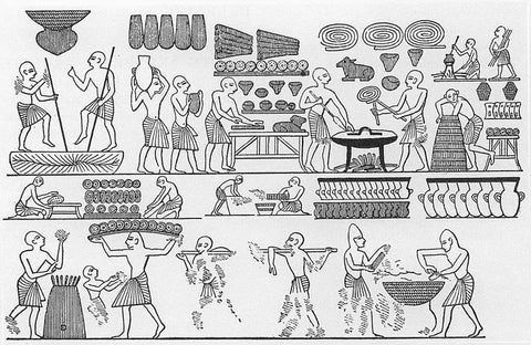 ancient Egypt bread making