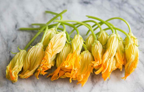 zucchini blossoms vegan food