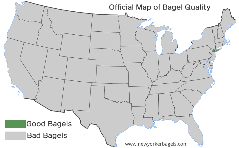 US Bagel Map