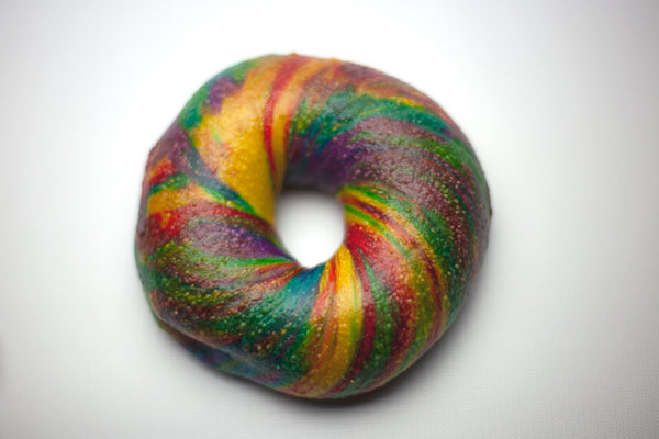 Rainbow Bagels are back!