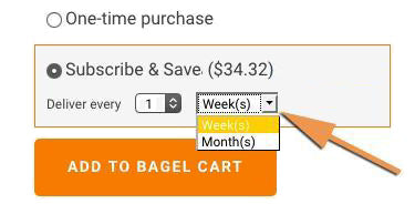 NYC bagel subscription
