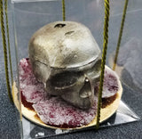 Chocolate Skull of Your Enemy on Candied Rose Petals