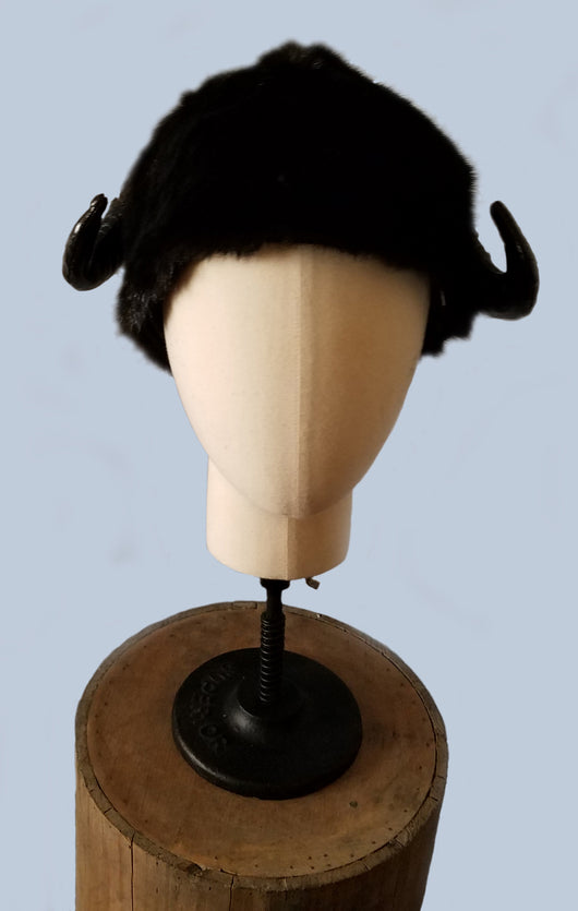 Monster Horn Faux Fur hat