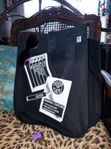 Black Crayons Box XL Organic Cotton Tote Bag