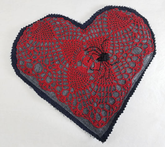 Hearts N' Spiders Large Denim Patch
