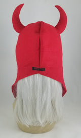 Red Devil Horn Hood Hat