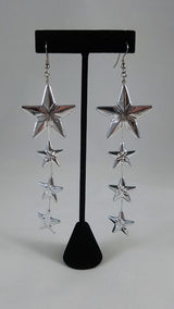 Silver Stars Upon Stars Earrings