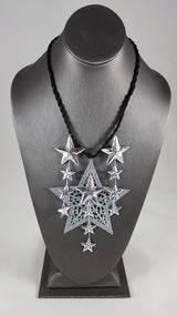Silver Stars Upon Stars Necklace