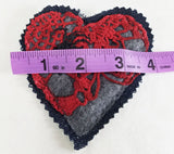 Hearts N' Spiders Small Denim Patch