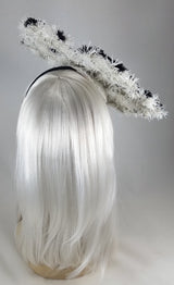 XL Black Snowflake Tilt Fascinator Headband