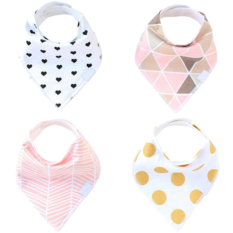 Set of 4 Bandana Baby Bibs