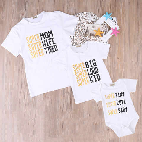 Super Mom and Baby Matching T-shirt