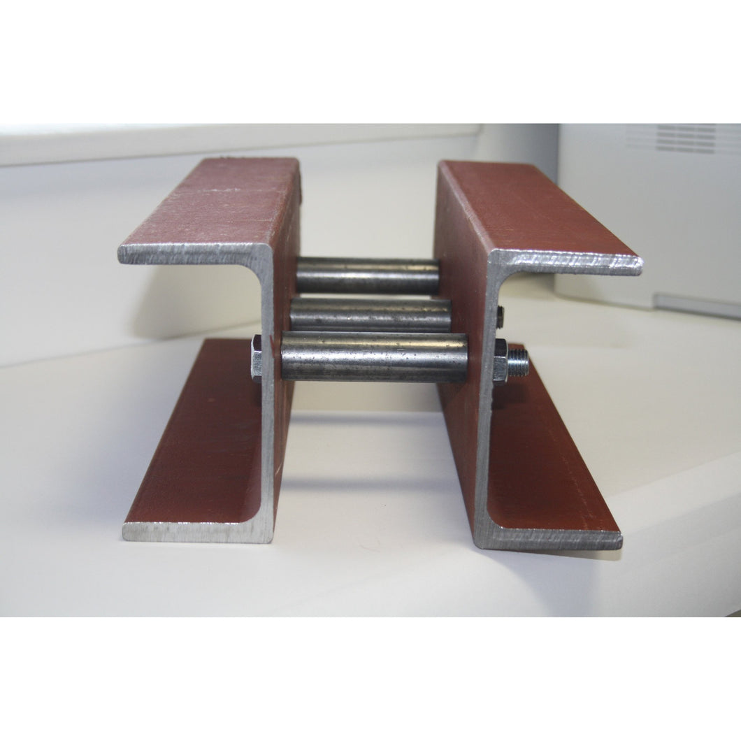 150 x 75 x 18 PFC Twined Beam Prefabricated Close Bolted to form 275mm 300mm Overall Cavity-tgoodsteelbeams-tgoodsteelbeams