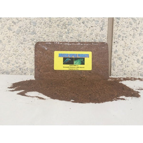 Coconut Fibre (Eco-Soil by Jurassic Reptile Products) - Compressed Brick - 500 kg - Expands to Approximately 7 Litres