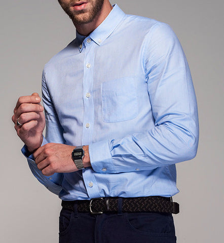 Men's City Sense Long Sleeve Oxford Dress Shirt (Multiple Colors Available)