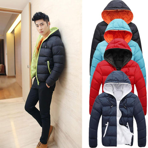 Men's Contrast Candy Bubble Style Jacket (Multiple Colors Available.)