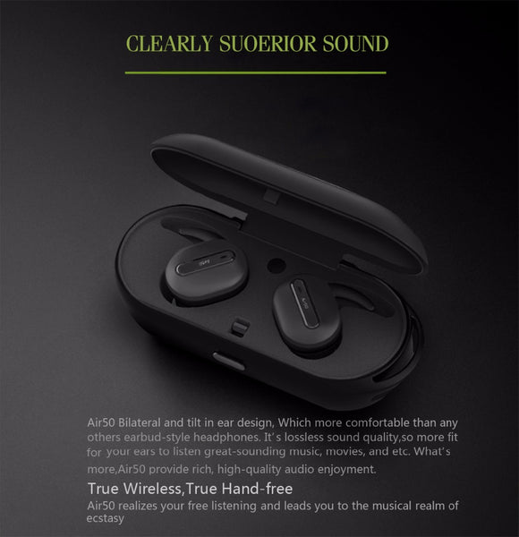Wireless Bluetooth Earphones / Earbuds with Charging Case