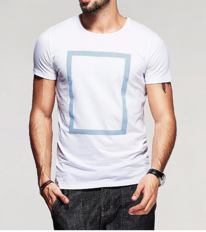 Mens Textured Rectangle T-Shirt (Multiple Colors Available)