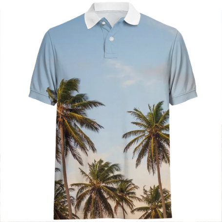 Palm Trees Sunshine Vibes Collection Polo (Multiple Colors Available) Availble ONLY on Mall Good Vibes!