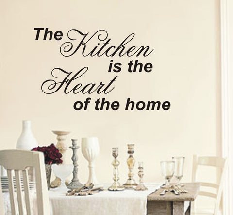 The Kitchen Is The Heart Of Home - Wall Art Decals Sticker Quote wa45