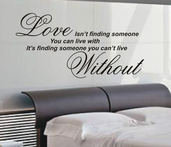 Love Isn't Finding Someone - Wall Art Decals Sticker Quote wa07