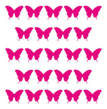 25 Small Star, Heart, Butterfly - Wall Stickers