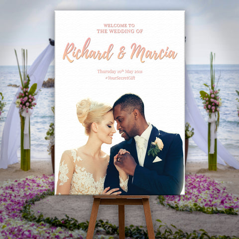 * Personalised Welcome To Our Wedding Sign Poster Your Personlalised Photo