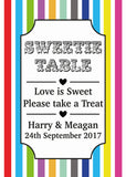 Colourful & Personalised Photo Table Sign & Colour choice!