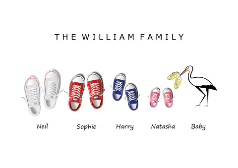 'CONVERSE' FAMILY CONVERSE PRINT - BUILD YOUR OWN PERSONALISED FAMILY PRINT