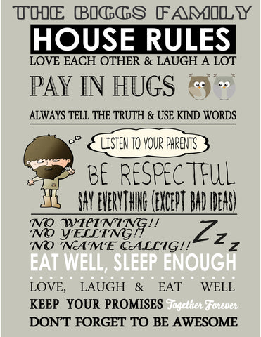 FAMILY HOUSE RULES - BUILD YOUR OWN FAMILY HOUSE RULES