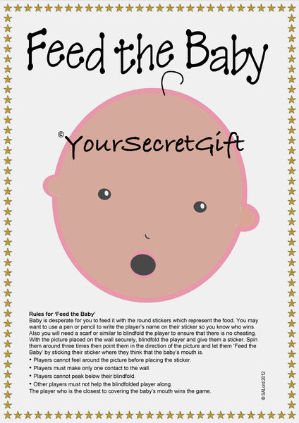 FEED the BABY Shower Game for 20. ETHNIC EDITION ready to play and have fun!