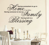 Having somewhere to go is home - Wall Art Decals Sticker Quote wa19