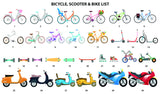 'BICYCLE & SCOOTER' FAMILY PRINT - BUILD YOUR OWN PERSONALISED FAMILY PRINT