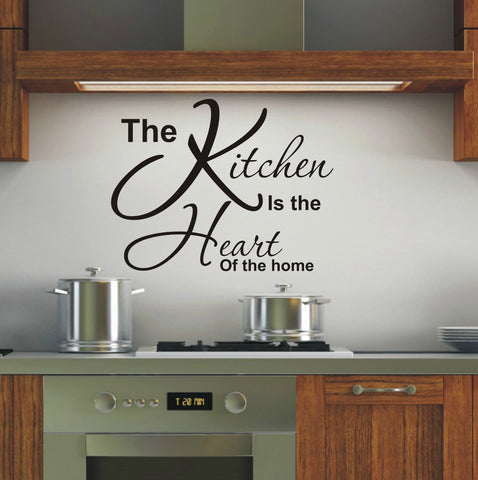 Kitchen is heart of the home - Wall Art Decals Sticker Quote wa15