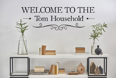 Personalised Welcome To Our Family Sticker, Wall Art Home Interior Design AG01