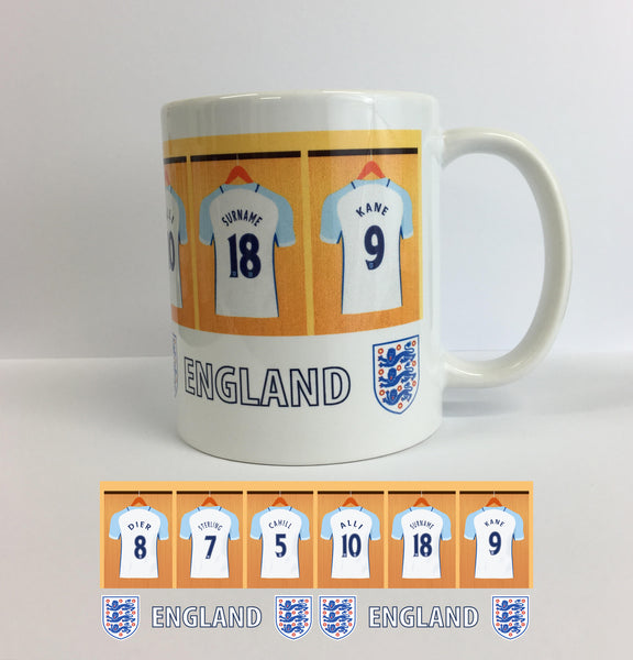 PERSONALISED FOOTBALL DRESSING ROOM MUG - YOU & YOUR TEAM