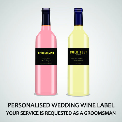 PERSONALISED BESTMAN WINE LABEL, SPIRIT OR BEER - YOUR SERVICE IS REQUESTED