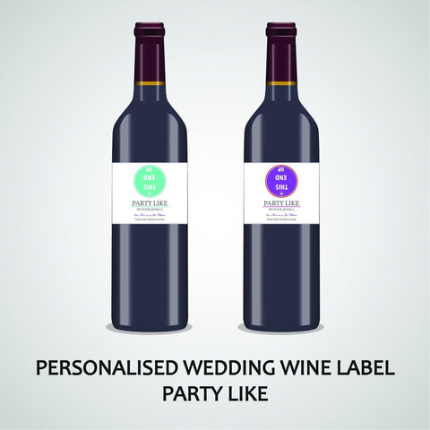 PERSONALISED PARTY LIKE WINE LABEL, SPIRIT, BEER WEDDING ANNIVERGARY ENGAGEMENT