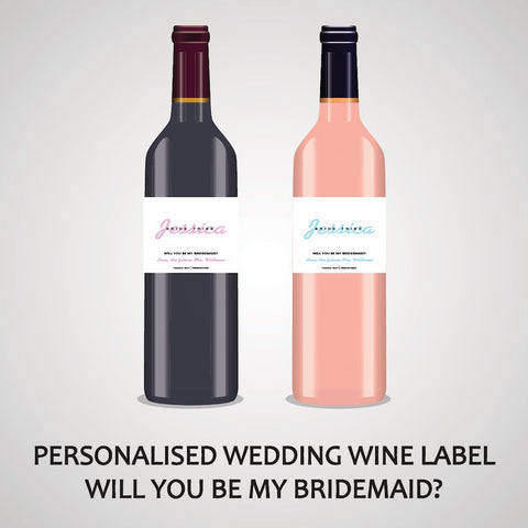 PERSONALISED BRIDESMAID WINE LABEL, SPIRIT OR BEER - BRIDE TRIBE....