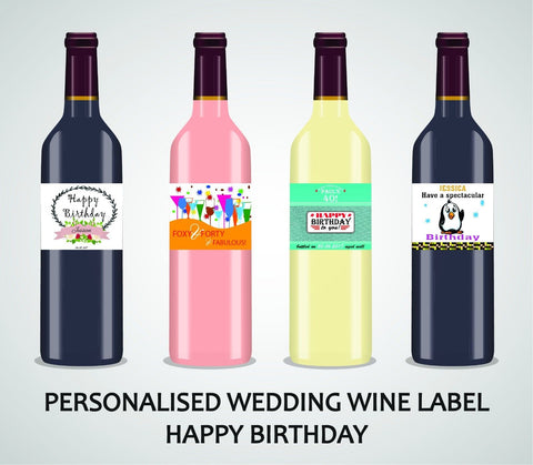 PERSONALISED BIRTHDAY WINE LABEL, SPIRIT, BEER - FOR ALL AGES