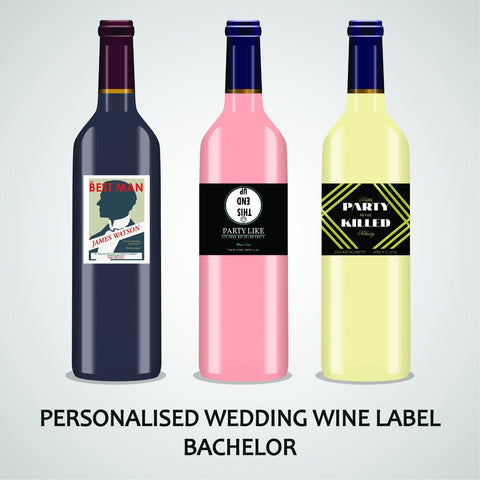 PERSONALISED BACHELOR WINE LABEL, SPIRIT OR BEER - THE BEST MAN ...