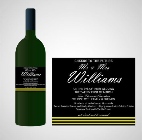 PERSONALISED WEDDING WINE LABEL, SPIRIT OR BEER - CHEERS TO THE FUTURE...