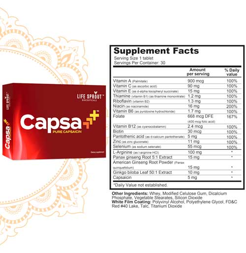 Capsa+ With 100% pure Capsaicin extract