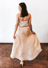 <h1>Sofia Wrap Skirt in Nude</h1>