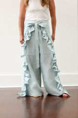 June Wrap Pant in Sky Blue