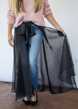 <h1>Wrap Skirt in Black</h1>